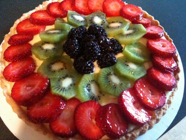 ... fresh fruit tart recipes dishmaps vanilla and almond fresh fruit tart